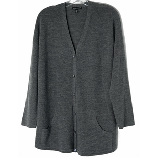 Primary Photo - BRAND: EILEEN FISHER STYLE: SWEATER CARDIGAN LIGHTWEIGHT COLOR: GREY SIZE: L SKU: 262-26241-47909100% WOOLDESIGNER FINAL