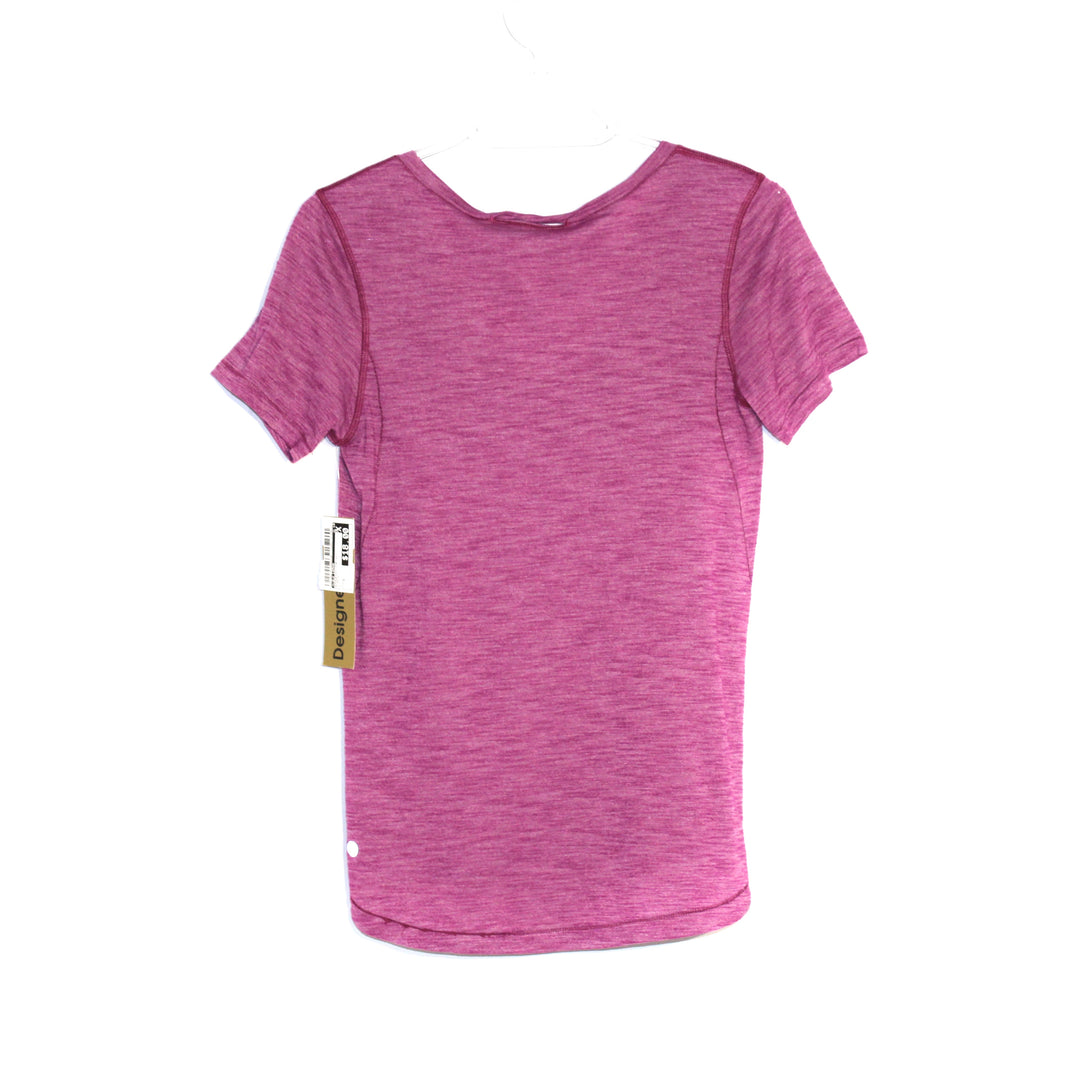 Photo #1 - BRAND: LULULEMON <BR>STYLE: ATHLETIC TOP SHORT SLEEVE <BR>COLOR: PURPLE <BR>SIZE: S <BR>SKU: 262-26275-52350<BR><BR>SIZE TAG MISSING AS IS