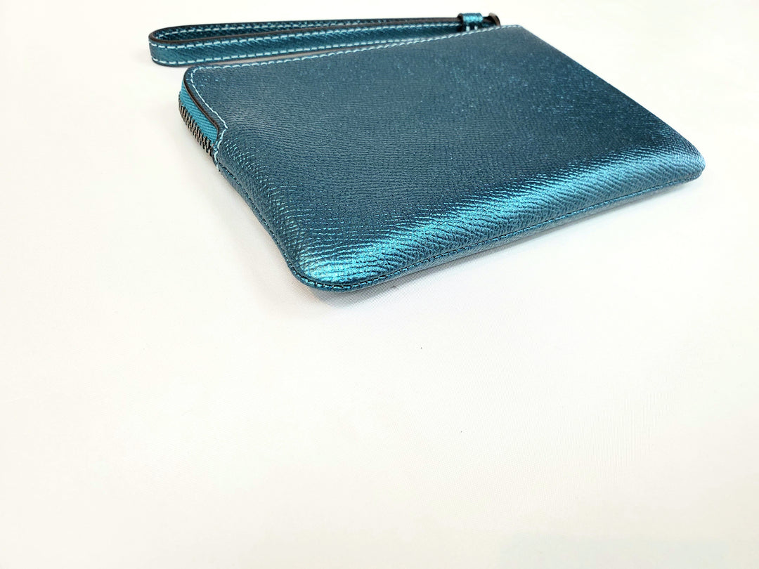Photo #2 - BRAND: COACH <BR>STYLE: WRISTLET <BR>COLOR: SHINY TEAL <BR>SKU: 262-26241-41360<BR>AS IS <BR>DESIGNER ITEM FINAL SALE