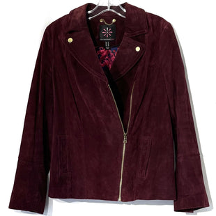 Primary Photo - BRAND: ISAAC MIZRAHI LIVE QVC STYLE: JACKET OUTDOOR COLOR: MAROON SIZE: M /10SKU: 262-26275-75372100% LEATHER