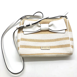 "Primary Photo - BRAND: KATE SPADE STYLE: HANDBAG DESIGNER COLOR: STRAW SIZE: SMALL SKU: 262-26275-76645APPROX. 9""L X 7.5""H. STRAP DROP APPROX. 23.5"""