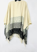 Photo #1 - BRAND: ALBERTO MAKALI <BR>STYLE: SHAWL <BR>COLOR: ZIGZAG <BR>SIZE: M/XL<BR>SKU: 262-26275-69949