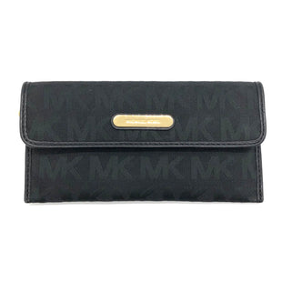 "Primary Photo - BRAND: MICHAEL KORS STYLE: WALLET COLOR: BLACK SIZE: LARGE SKU: 262-262101-2543APPROX 8""X4""X0.5""DESIGNER BRAND FINAL SALE"