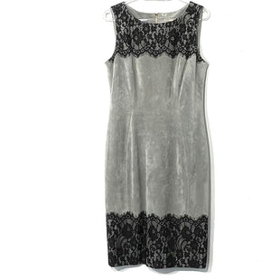 Primary Photo - BRAND: CALVIN KLEIN STYLE: DRESS SHORT SLEEVELESS COLOR: GREY SIZE: M/8SKU: 262-262101-14705% SPANDEX FAUX SUEDE