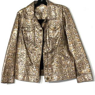 Primary Photo - BRAND: CHICOS STYLE: JACKET OUTDOORCOLOR: SNAKESKIN PRINT SIZE: L /2SKU: 262-26275-77942
