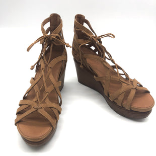Primary Photo - BRAND: GENTLE SOULS STYLE: SANDALS FLAT COLOR: BROWN SIZE: 11 SKU: 262-26211-144623