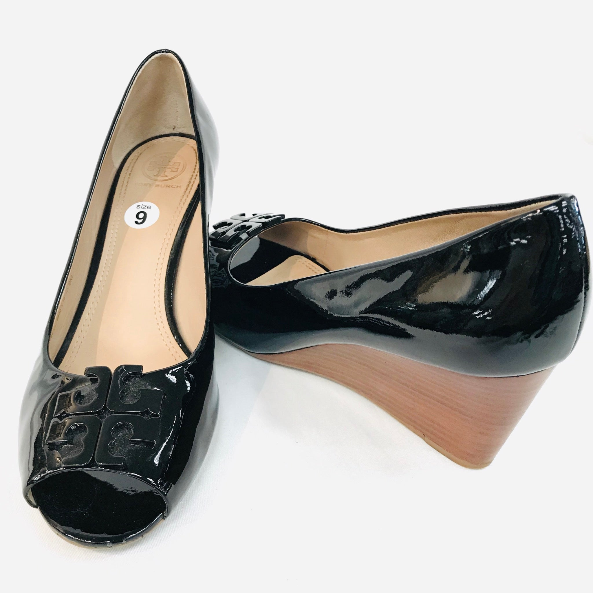 Photo #1 - BRAND: TORY BURCH <BR>STYLE: SHOES FLATS <BR>COLOR: BLACK <BR>SIZE: 9 M<BR>SKU: 262-26298-409<BR>AS IS