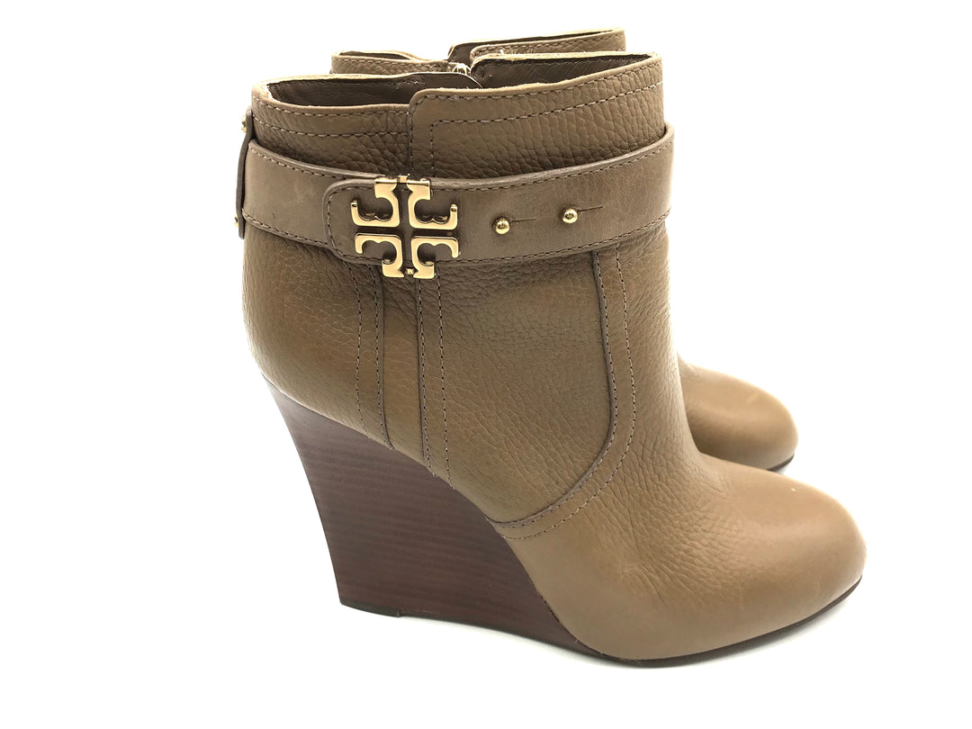 Photo #2 - BRAND: TORY BURCH <BR>STYLE: BOOTS ANKLE <BR>COLOR: BROWN <BR>SIZE: 9 <BR>SKU: 262-262101-1427<BR><BR>ELINA BOOTIE