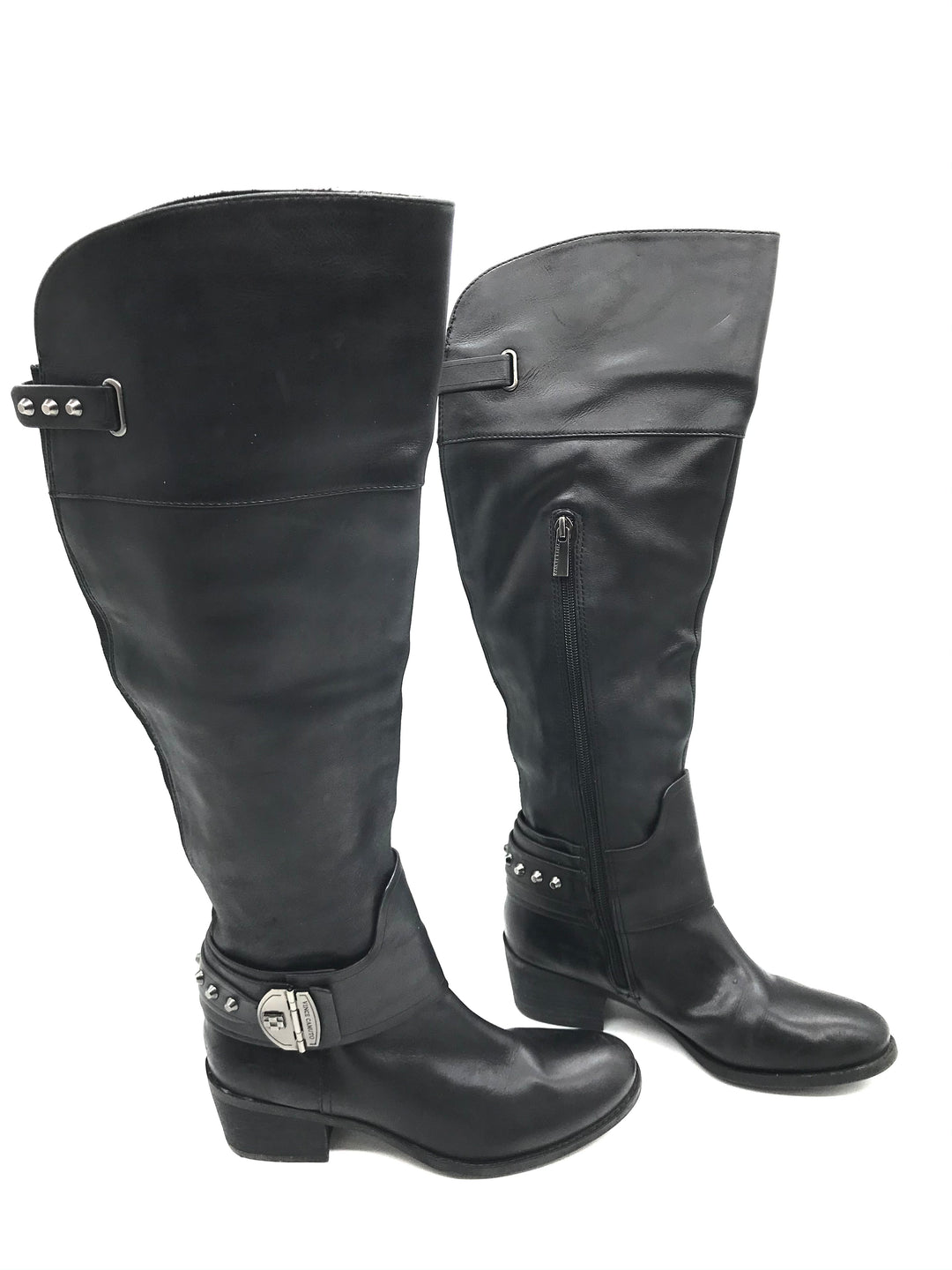 Photo #1 - BRAND: VINCE CAMUTO <BR>STYLE: BOOTS KNEE <BR>COLOR: BLACK <BR>SIZE: 6.5 <BR>SKU: 262-26275-72179<BR><BR>SOME SLIGHT SCRATCHES