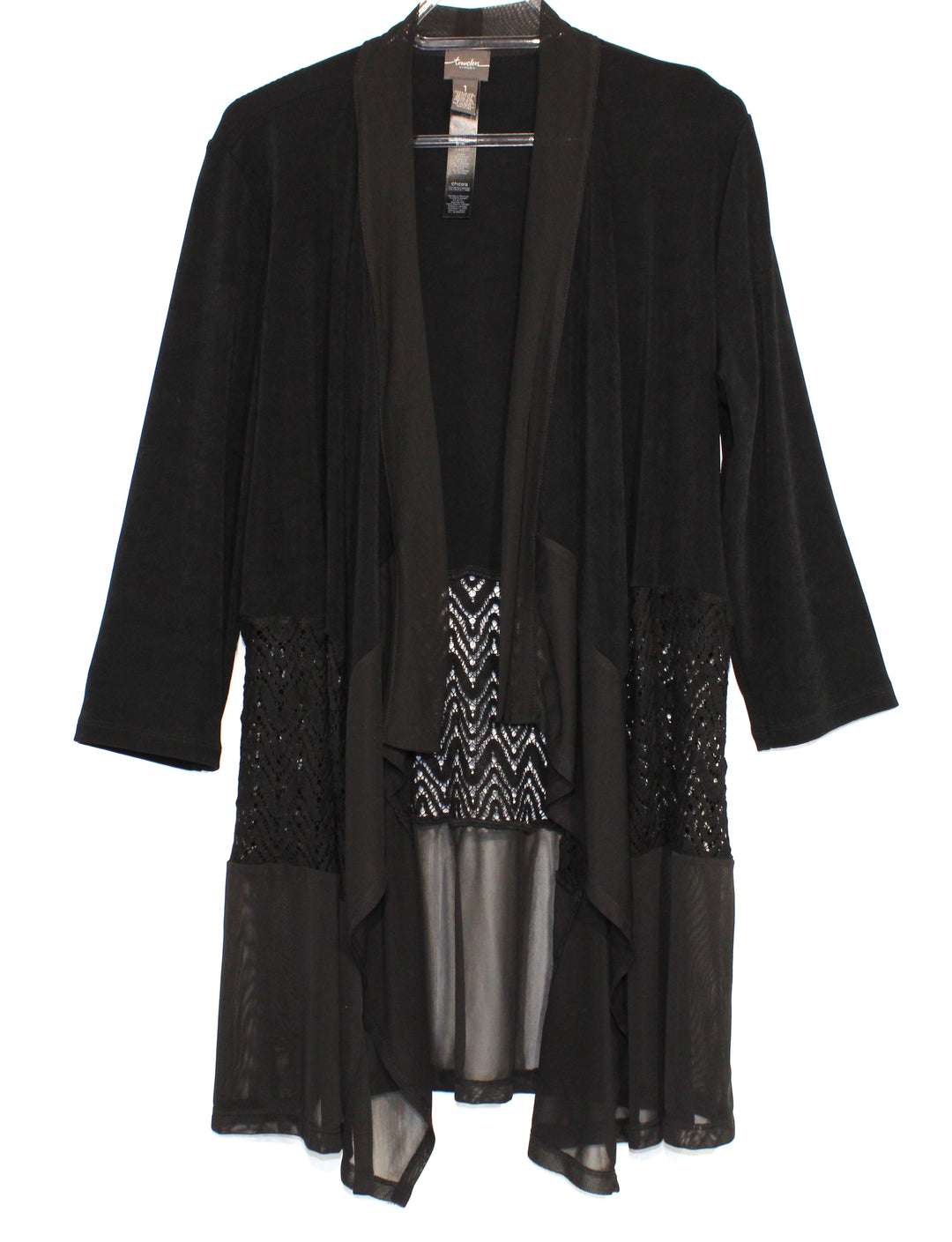 Primary Photo - BRAND: TRAVELERS BY CHICOS <BR>STYLE: COVER UP<BR>COLOR: BLACK <BR>SIZE: M/1<BR>SKU: 262-26211-137654