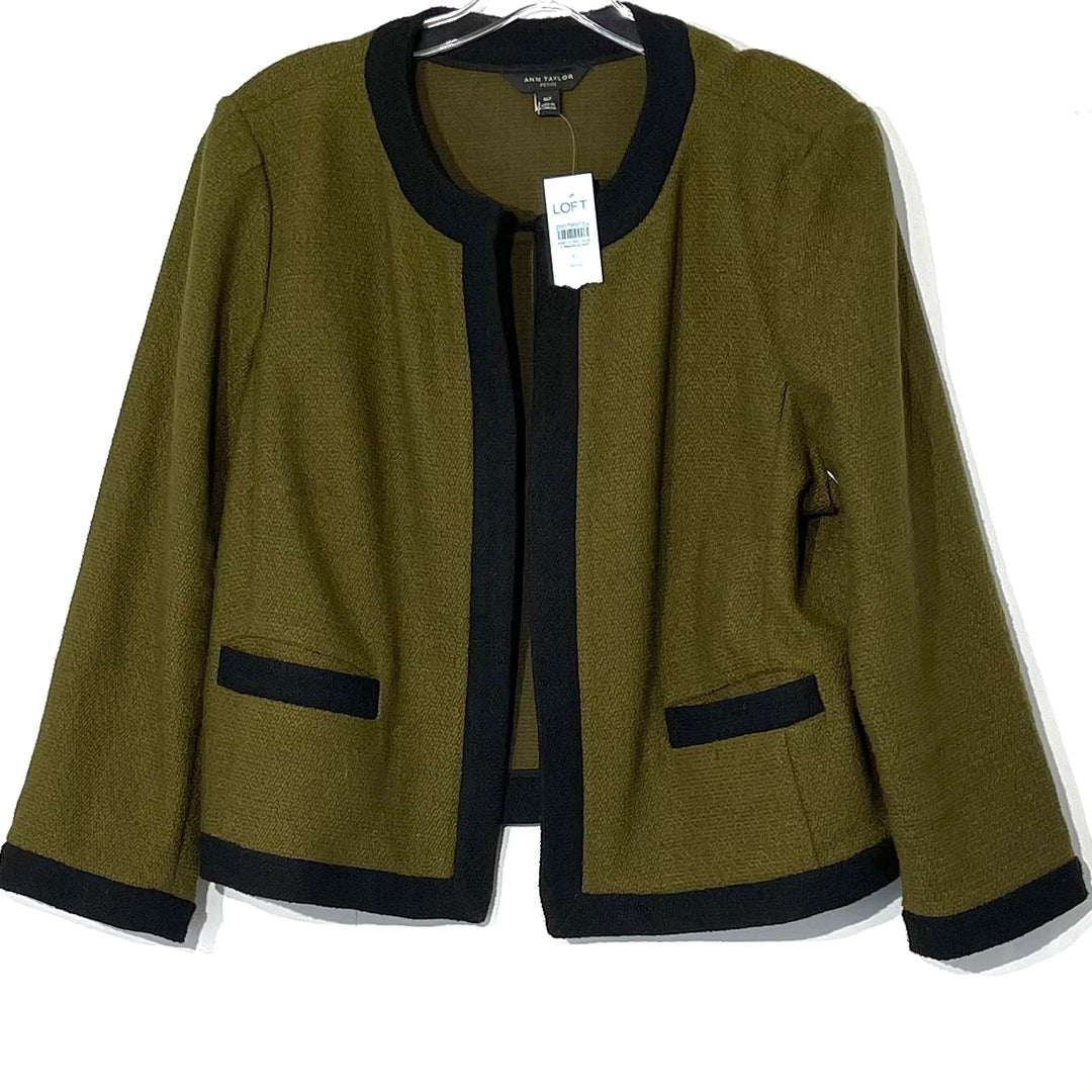 Primary Photo - BRAND: ANN TAYLOR<BR>STYLE: TOP LONG SLEEVE BLAZER<BR>COLOR: OLIVE <BR>SIZE: XL <BR>SKU: 262-26211-140946