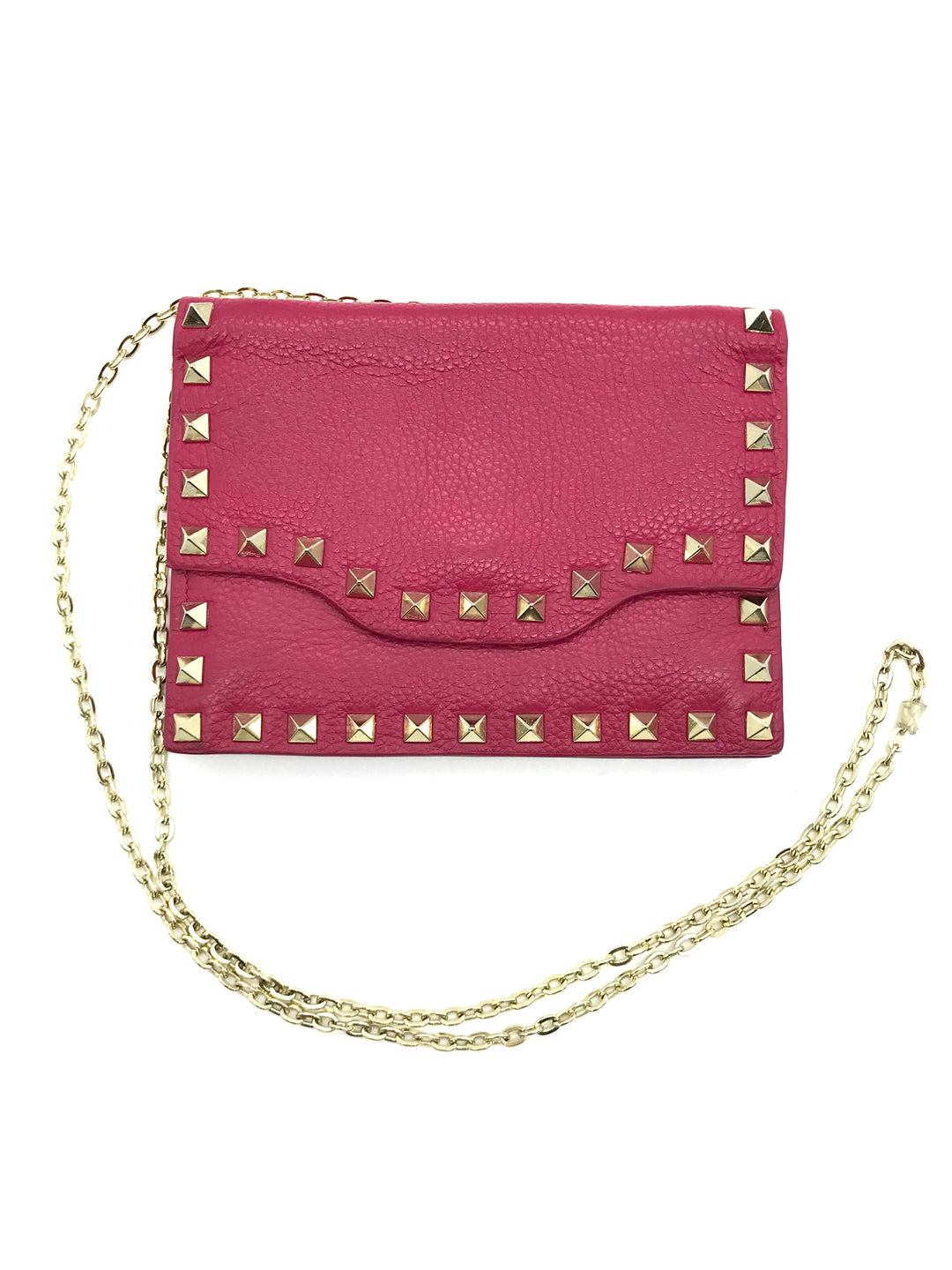 "Primary Photo - BRAND: NEIMAN MARCUS <BR>STYLE: HANDBAG <BR>COLOR: HOT PINK <BR>SIZE: SMALL <BR>SKU: 262-26241-43692<BR><BR>APPROX. 6.75""L X 5""H. SMALL SIZE, SLIGHT WEAR TO INSIDE OF FLAP. MATERIAL 100% LEATHER"