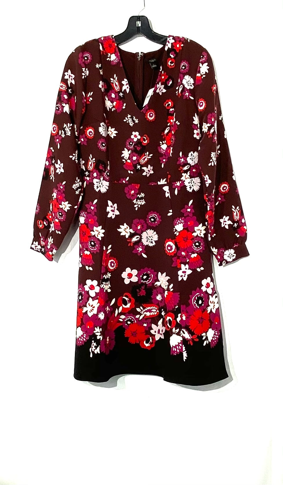Primary Photo - BRAND: ANN TAYLOR FACTORY<BR>STYLE: DRESS SHORT LONG SLEEVE <BR>COLOR: FLORAL <BR>SIZE: M /8<BR>SKU: 262-26275-71771