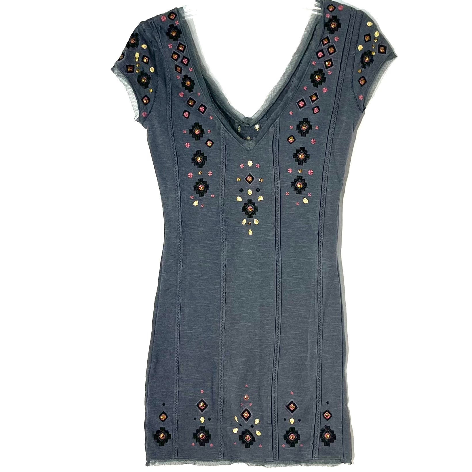 Photo #1 - BRAND: FREE PEOPLE <BR>STYLE: DRESS SHORT SLEEVELESS <BR>COLOR: GREY <BR>SIZE: XS <BR>SKU: 262-26241-46904
