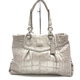 "Primary Photo - BRAND: COACH STYLE: HANDBAG DESIGNER COLOR: METALLIC SIZE: MEDIUM AS IS WEAR (MOSTLY INSIDE) SKU: 262-26275-78131DESIGNER BRAND FINAL SALE APPROX 15""X10""X4"" HANDLE DROP 6"""
