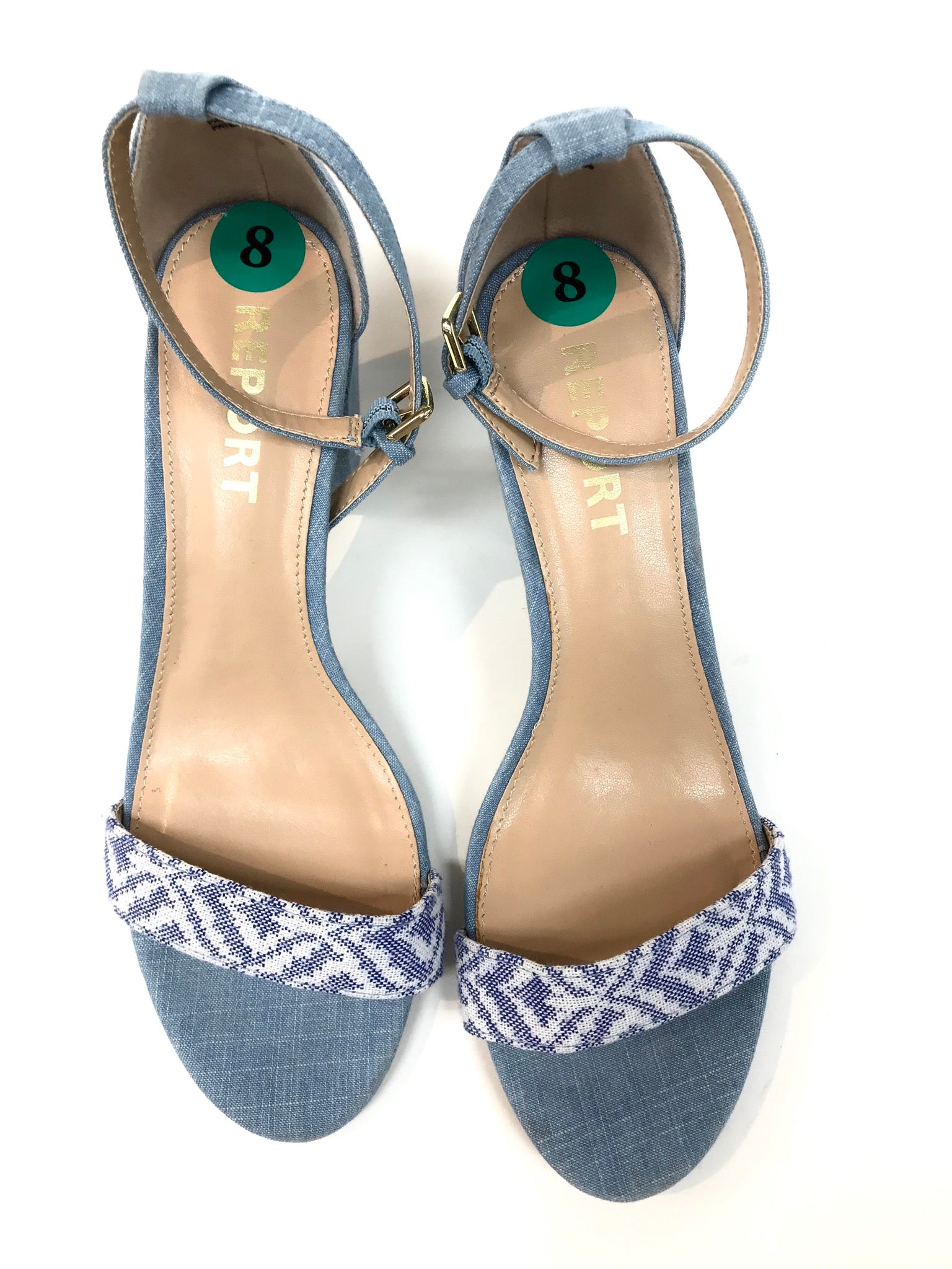 Photo #1 - BRAND: REPORT <BR>STYLE: SANDALS <BR>COLOR: DENIM <BR>SIZE: 8 <BR>SKU: 262-26275-49060