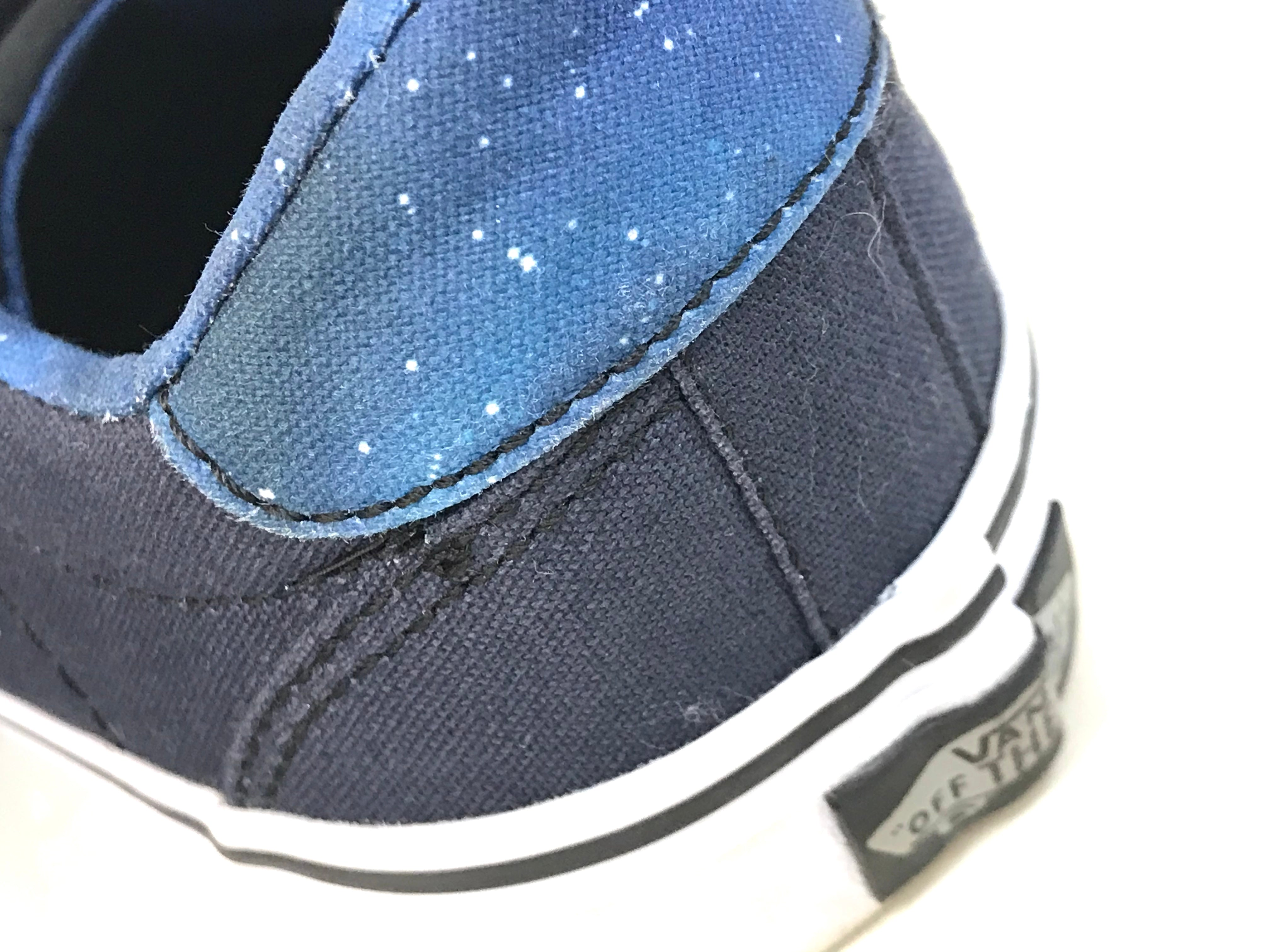 Photo #3 - BRAND: VANS <BR>STYLE: SHOES ATHLETIC <BR>COLOR: NAVY <BR>SIZE: 6 <BR>SKU: 262-26275-62214<BR>GENTLE WEAR SHOWS <BR>FINAL SALE - AS IS