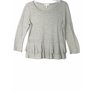 Primary Photo - BRAND: REBECCA TAYLOR STYLE: TOP LONG SLEEVE COLOR: STRIPED GREYSIZE: M SKU: 262-262101-3180DESIGNER FINAL100% COTTON