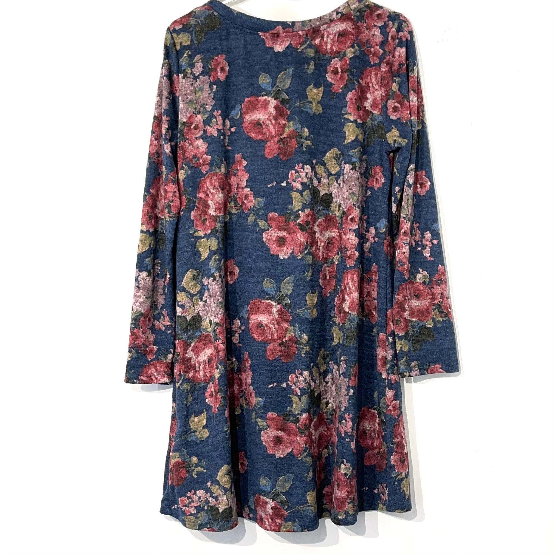 Photo #1 - BRAND: POTTERS POT <BR>STYLE: DRESS SHORT LONG SLEEVE <BR>COLOR: FLORAL <BR>SIZE: L <BR>SKU: 262-26241-41892