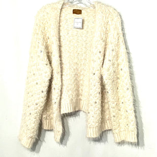Primary Photo - BRAND: POL STYLE: SWEATER CARDIGAN HEAVYWEIGHT COLOR: IVORY SPARKLESSIZE: L SKU: 262-26211-141291