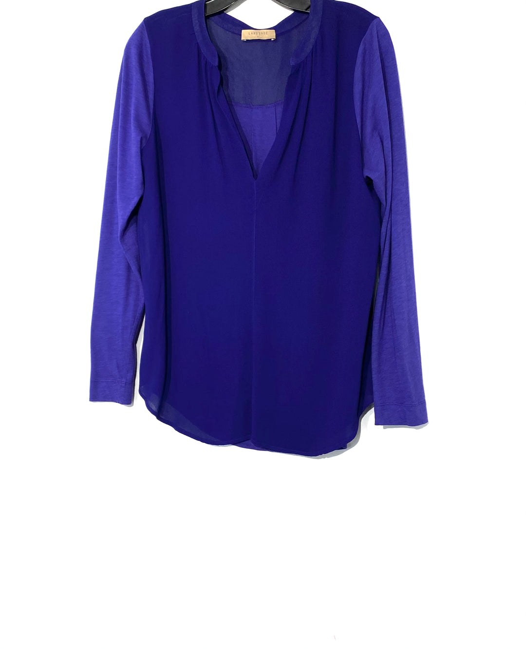 Primary Photo - BRAND: LANGUAGE <BR>STYLE: TOP LONG SLEEVE <BR>COLOR: DARK ROYAL BLUE <BR>SIZE: L <BR>SKU: 262-26275-69866