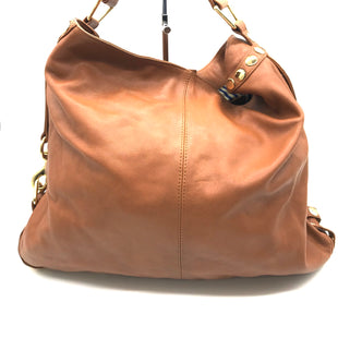 "Primary Photo - BRAND: REBECCA MINKOFF STYLE: HANDBAG DESIGNER COLOR: TAN SIZE: LARGE OTHER INFO: AS IS WEAR SKU: 262-26275-68928APPROX. 16""L X 13""H X 4""D. PRICE DOES REFLECT GENTLE WEAR INCLUDING SCRATCHES TO LEATHER AND METALWARE"