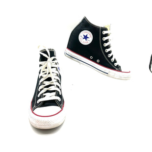 Primary Photo - BRAND: CONVERSE STYLE: SHOES ATHLETIC COLOR: BLACK SIZE: 9 SKU: 262-26241-46847WEDGEGENTLEST SMUDGING ON SOLES SEE PIC AS IS