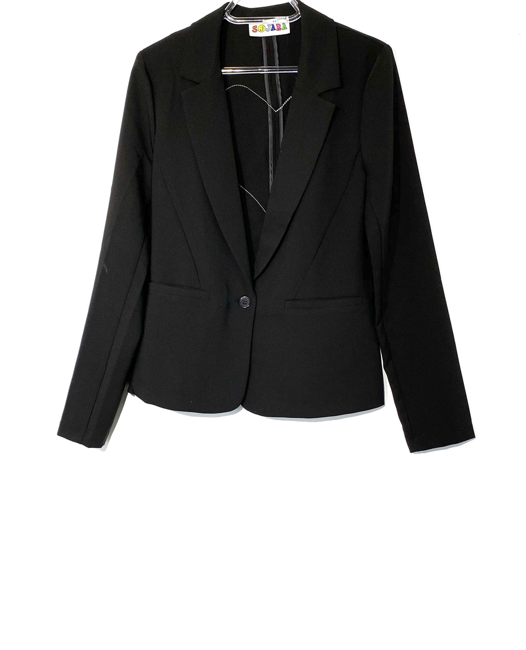 Primary Photo - BRAND:    SOJARA<BR>STYLE: BLAZER JACKET <BR>COLOR: BLACK <BR>SIZE: S <BR>OTHER INFO: SOJARA - <BR>SKU: 262-26275-69781<BR>SIZE TAG MISSING AS IS