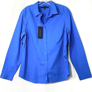 Primary Photo - BRAND: TOMMY HILFIGER STYLE: TOP LONG SLEEVE COLOR: BLUE SIZE: L SKU: 262-26275-67984