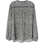 Photo #1 - BRAND: TALBOTS <BR>STYLE: TOP LONG SLEEVE <BR>COLOR: GREY WHITE <BR>SIZE: XL <BR>SKU: 262-26275-76048