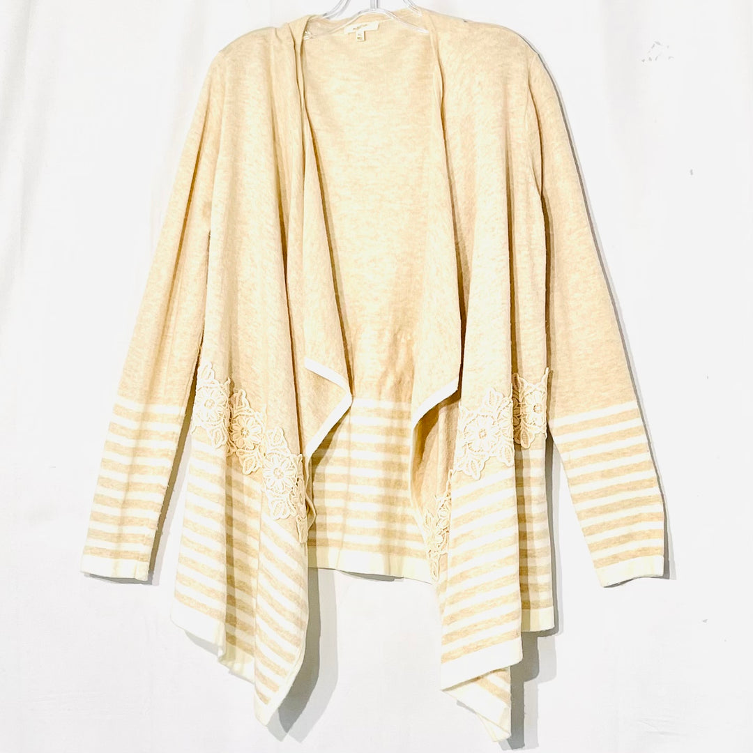 Primary Photo - BRAND: MYSTREE <BR>STYLE: SWEATER CARDIGAN LIGHTWEIGHT <BR>COLOR: BEIGE <BR>SIZE: XL <BR>SKU: 262-26275-65901<BR>3% WOOL