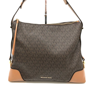 "Primary Photo - BRAND: MICHAEL KORS STYLE: HANDBAG DESIGNER COLOR: MONOGRAM SIZE: LARGE SKU: 262-262101-1967APPROX 11""X13""X5.5HANDLE DROP APPROX 8.5"" AS IS SLIGHT WEAR AND SPOTS SHOWN IN PHOTOS DESIGNER BRAND FINAL SALE"