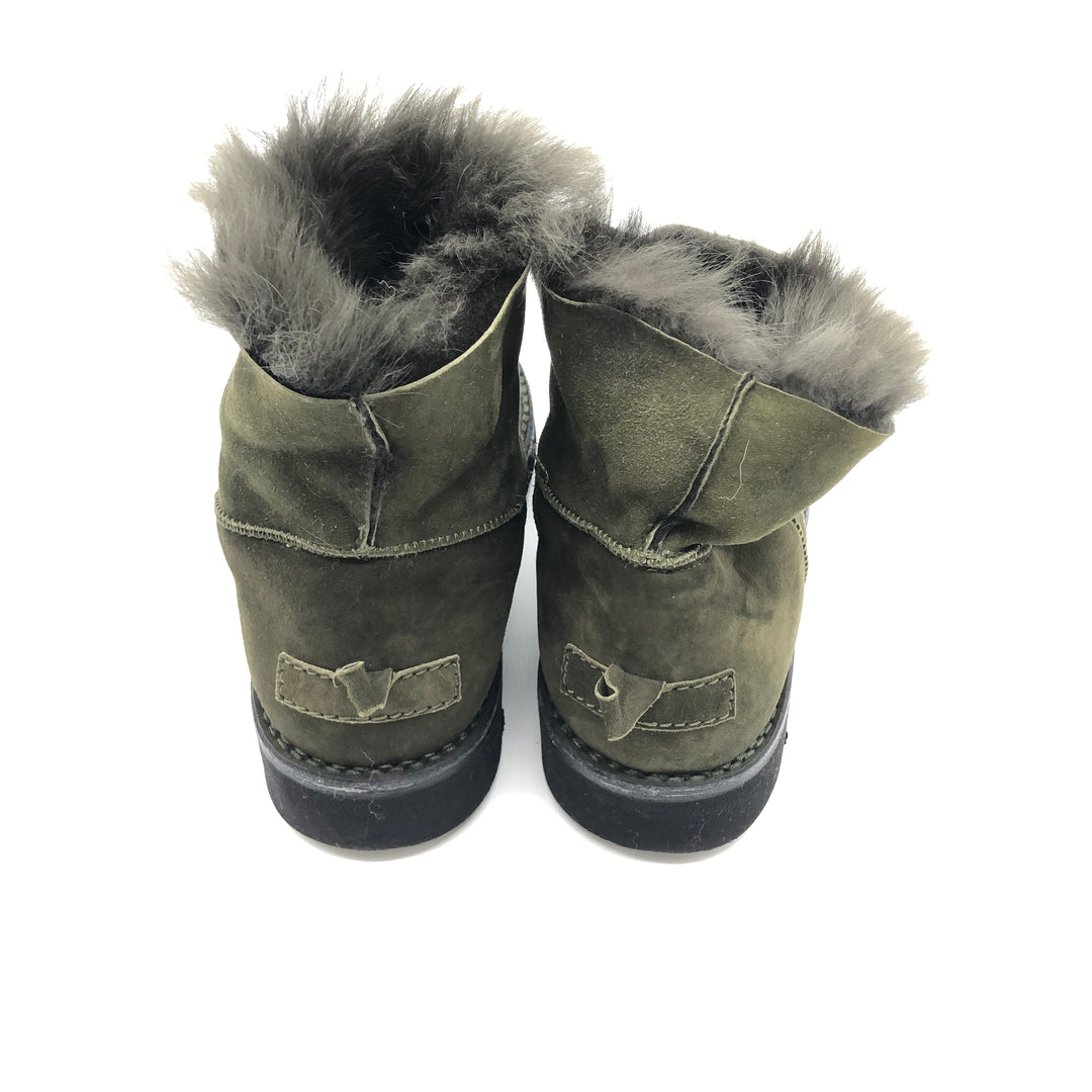 Photo #2 - BRAND:  BOEMOS <BR>STYLE: BOOTS ANKLE <BR>COLOR: OLIVE <BR>SIZE: 13 | 43<BR>SKU: 262-26241-44651<BR>AS IS
