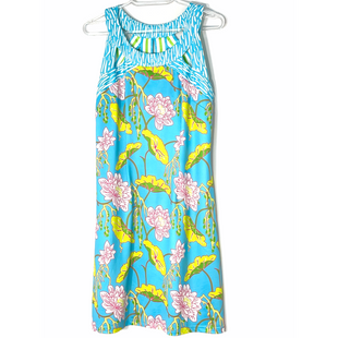 Primary Photo - BRAND: GRETCHEN SCOTT STYLE: DRESS SHORT SLEEVELESS COLOR: FLORAL LIGHT BLUESIZE: M SKU: 262-262101-3173