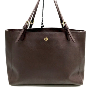 "Primary Photo - BRAND: TORY BURCH STYLE: HANDBAG DESIGNER COLOR: BROWN SIZE: LARGE SKU: 262-26275-65433APPROX. 18""L X 11.25""H X 4.5""D. PRICE REFLECTS JUST A COUPLE SLIGHT SPOTS"