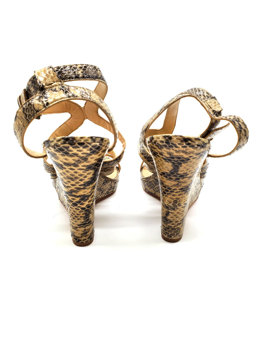 Photo #2 - BRAND: VIA SPIGA <BR>STYLE: SANDALS LOW <BR>COLOR: SNAKESKIN PRINT <BR>SIZE: 8.5 <BR>SKU: 262-26275-61560<BR>AS IS
