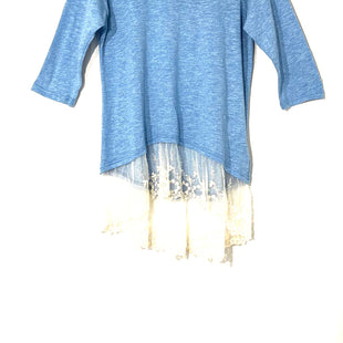 Primary Photo - BRAND: KORI AMERICA STYLE: TOP 3/4 LONG SLEEVE COLOR: BLUE WHITE SIZE: L SKU: 262-26275-58121