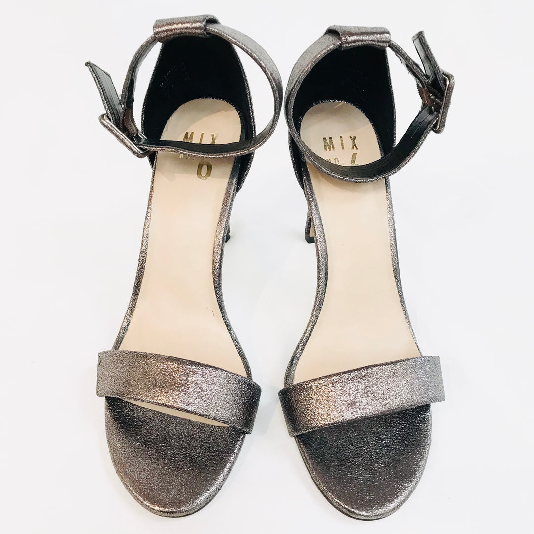 Primary Photo - BRAND:  MIX NO.6<BR>STYLE: SANDALS HIGH HEELS<BR>COLOR: METALLIC <BR>SIZE: 8 <BR>SKU: 262-26241-31421<BR>- AS IS -