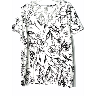 Primary Photo - BRAND: LORD AND TAYLOR STYLE: TOP SHORT SLEEVE COLOR: WHITE BLACK SIZE: 1X SKU: 262-26241-47537
