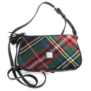 "Primary Photo - BRAND: DOONEY AND BOURKE STYLE: HANDBAG DESIGNER COLOR: PLAID SIZE: SMALL SKU: 262-262101-2875APPROX. 8""L X 5""H X 1.25""D. STRAP DROP APPROX. 22"""