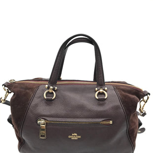 "Primary Photo - BRAND: COACH STYLE: HANDBAG DESIGNER COLOR: MAROON SIZE: MEDIUM OTHER INFO: AS IS WEAR SKU: 262-26275-67548AS IS WEAR ON HARDWARE AND CORNERS.SMALL SCRATCH AND SPOTS. (SEE PHOTOS) DESIGNER BRAND FINAL SALE APPROX 15""X10""X6.5""HANDLE DROP APPROX 4.5"""