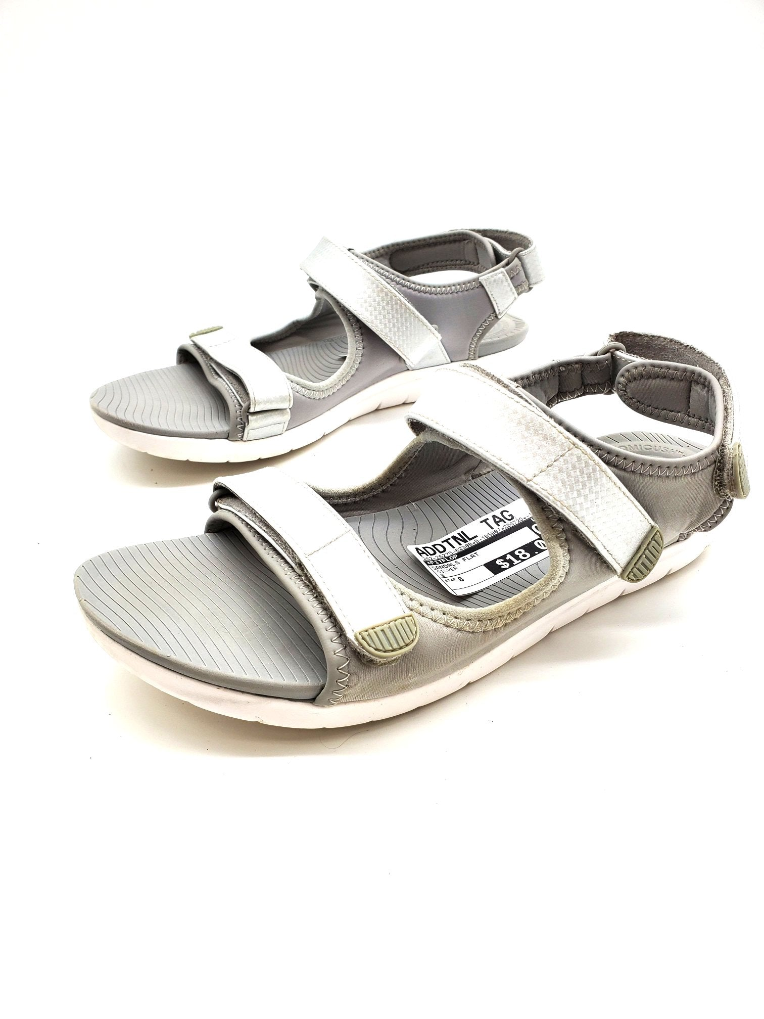 Photo #1 - BRAND: FITFLOP <BR>STYLE: SANDALS FLAT <BR>COLOR: SILVER <BR>SIZE: 8 <BR>SKU: 262-26275-62388<BR>AS IS