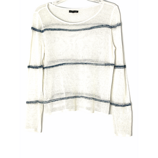 Primary Photo - BRAND: EILEEN FISHER STYLE: TOP LONG SLEEVE COLOR: WHITE BLUE SIZE: PETITE MEDIUM OTHER INFO: 100% ORGANIC LINEN SKU: 262-262101-3174SHEERSIZE TAG MISSING AS IS NO GUARANTEES OF FIT