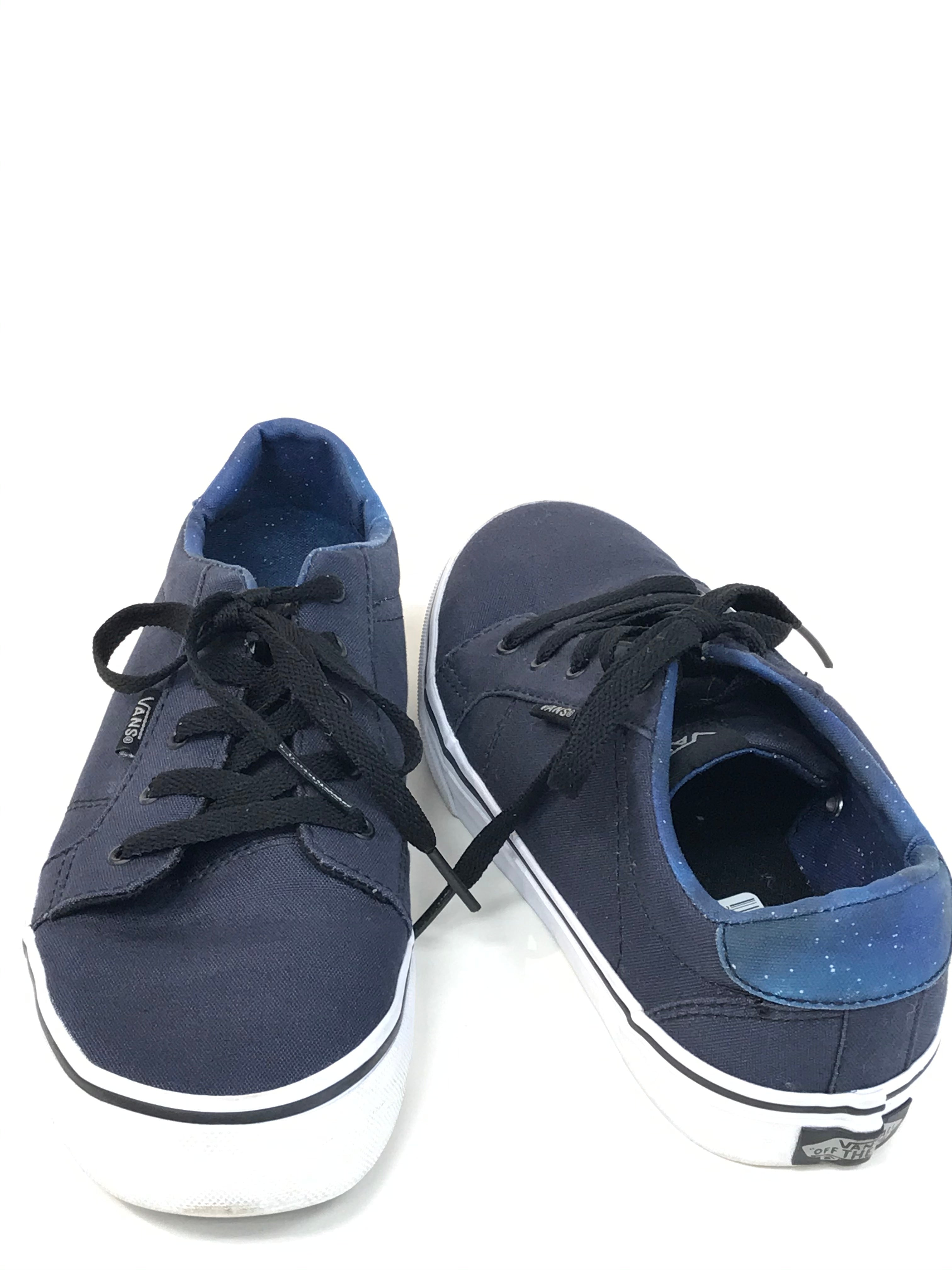 Photo #1 - BRAND: VANS <BR>STYLE: SHOES ATHLETIC <BR>COLOR: NAVY <BR>SIZE: 6 <BR>SKU: 262-26275-62214<BR>GENTLE WEAR SHOWS <BR>FINAL SALE - AS IS