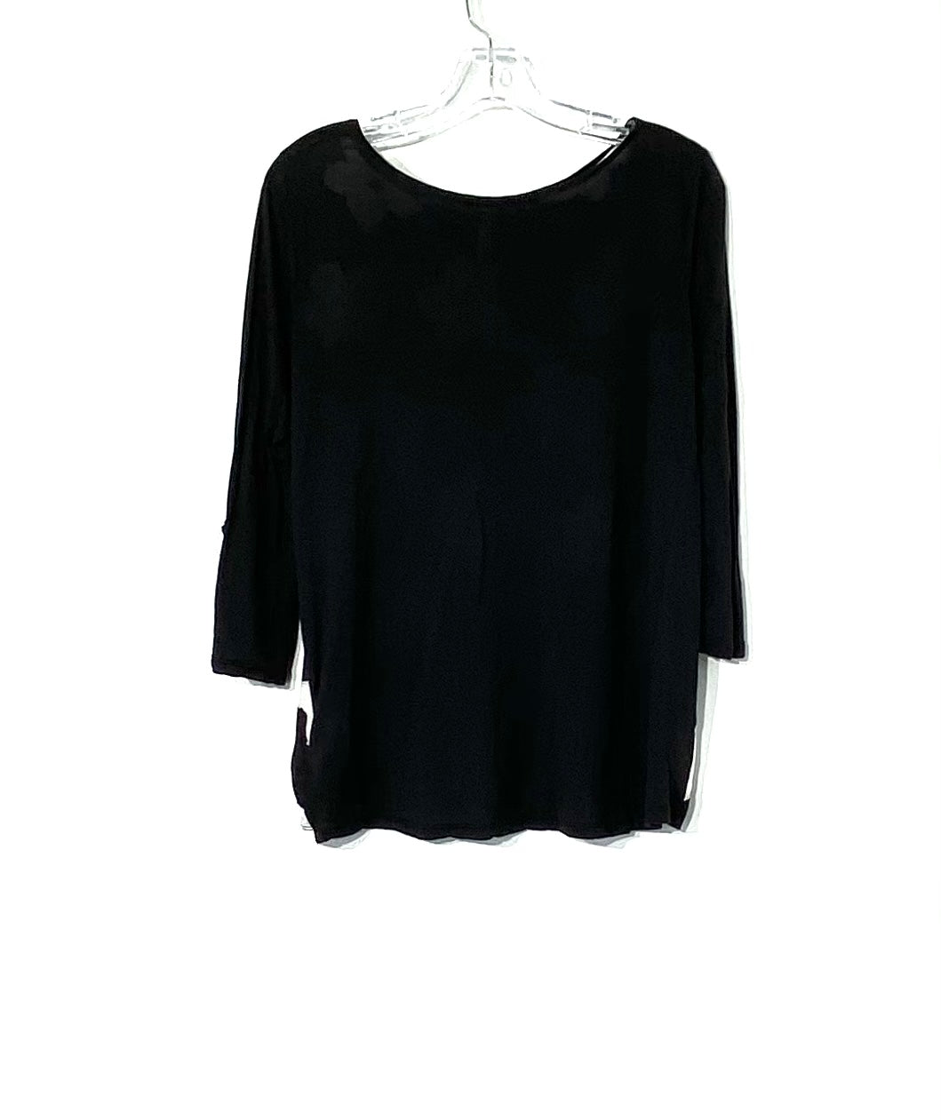 Photo #1 - BRAND: KENSIE <BR>STYLE: TOP 3/4 SHORT SLEEVE <BR>COLOR: BLACK WHITE <BR>SIZE: M <BR>SKU: 262-26275-71802