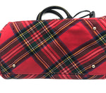 "Photo #5 - BRAND: DOONEY AND BOURKE <BR>STYLE: HANDBAG DESIGNER <BR>COLOR: PLAID <BR>SIZE: MEDIUM <BR>SKU: 262-26241-44660<BR><BR>APPROX. 10.75""L X 10""H X 5.5""D. AS IS, SLIGHT WEAR TO METALWARE + MISSING ONE OF THE FOUR FEET"