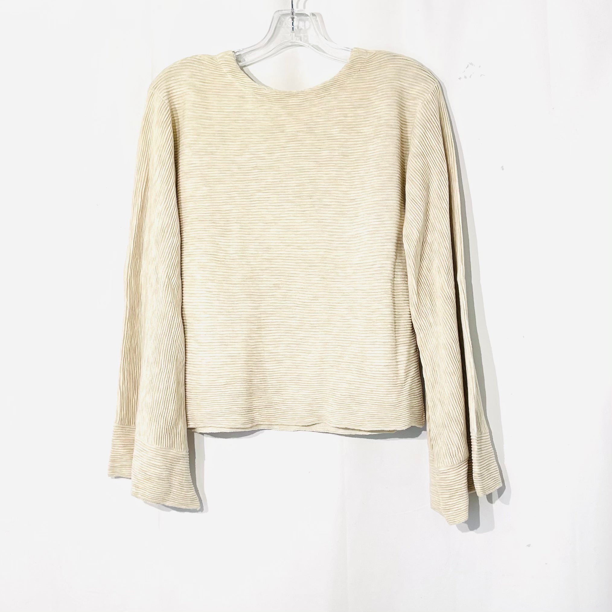 Photo #1 - BRAND: FREE PEOPLE <BR>STYLE: SWEATER LIGHTWEIGHT <BR>COLOR: BEIGE <BR>SIZE: L <BR>SKU: 262-26275-73811