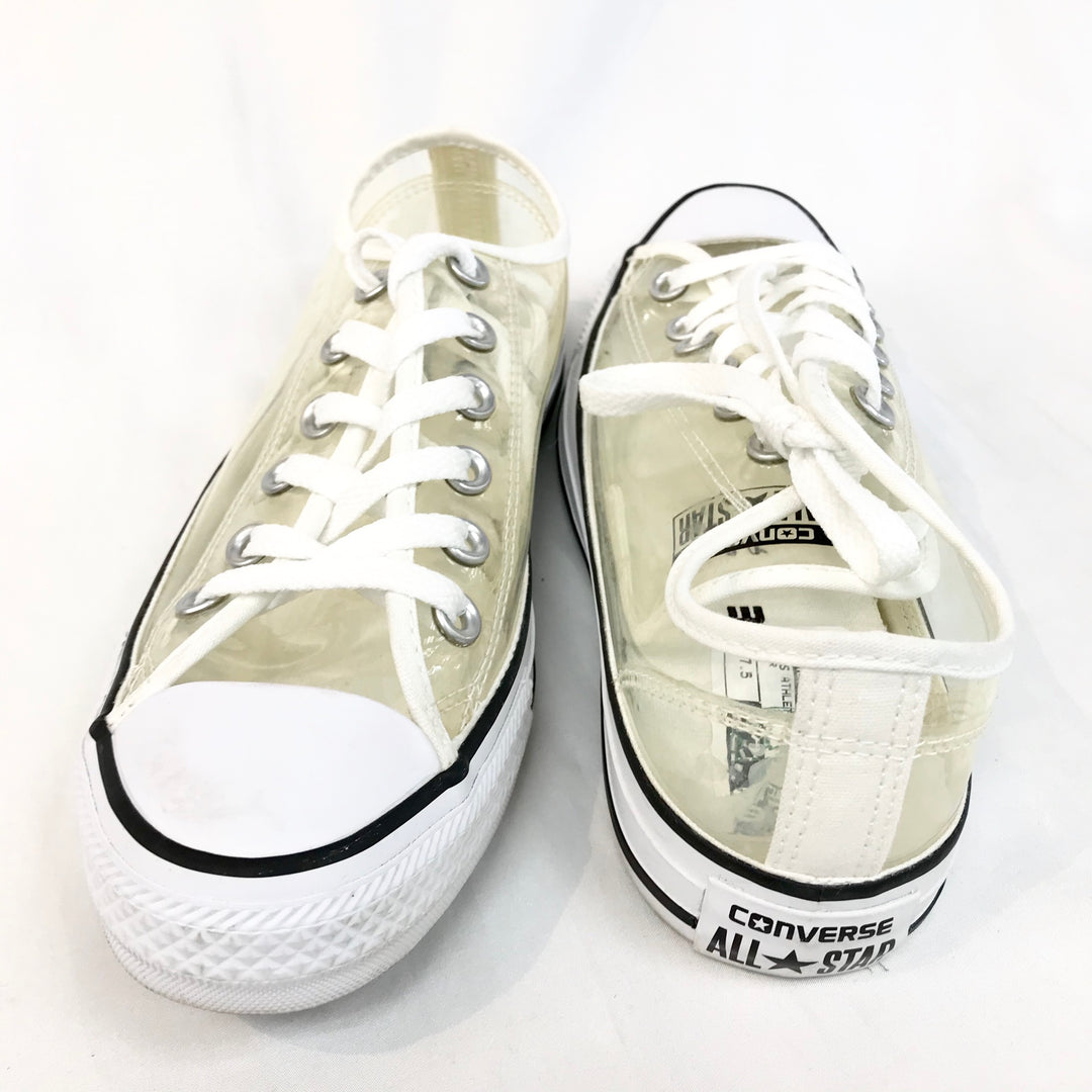Photo #1 - BRAND: CONVERSE <BR>STYLE: SHOES ATHLETIC <BR>COLOR: CLEAR <BR>SIZE: 7.5 <BR>SKU: 262-26275-60696<BR>AS IS