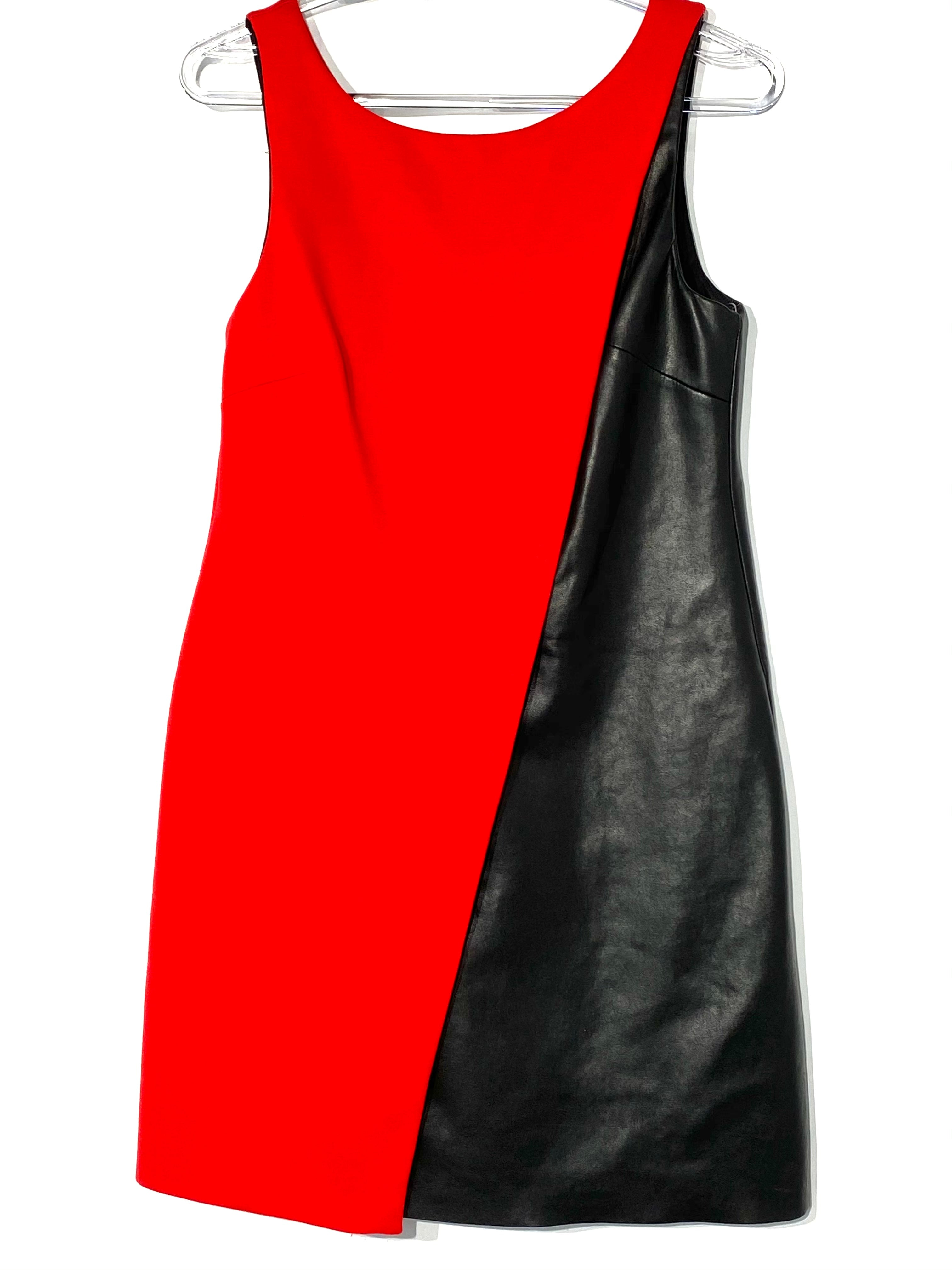Primary Photo - BRAND: BAILEY 44 <BR>STYLE: DRESS SHORT SLEEVELESS <BR>COLOR: RED BLACK <BR>SIZE: XS <BR>SKU: 262-26275-68702<BR>LEATHER LOOK