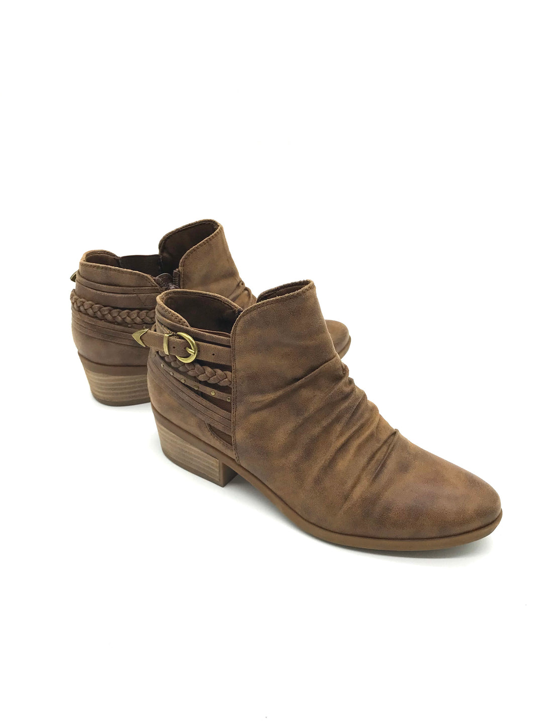 Primary Photo - BRAND: BARE TRAPS <BR>STYLE: BOOTS ANKLE <BR>COLOR: BROWN <BR>SIZE: 7.5 <BR>SKU: 262-26211-136098<BR>AS IS